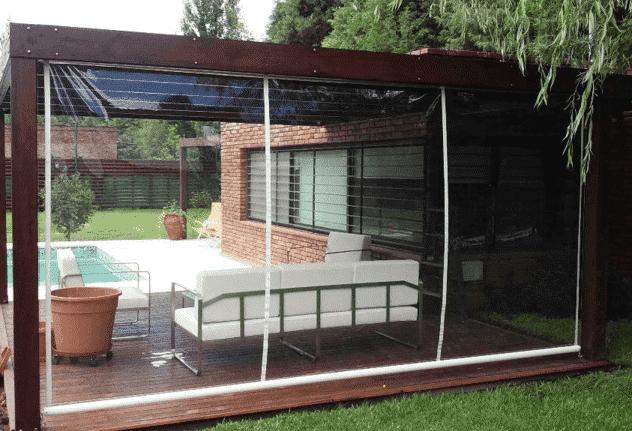Tipos de cerramientos de terraza con lona